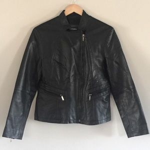 LE CHATEAU // faux leather motorcycle jacket